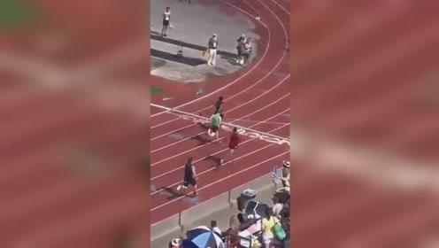 神级反转!男子4×100米接力赛最后一棒连超5人最终夺冠