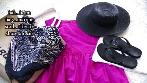 一件清爽时尚的连衣裙的3种搭配方法,这样穿清凉显舒适!
