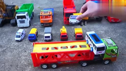电动抓木机模拟表演 玩具车工程车大全