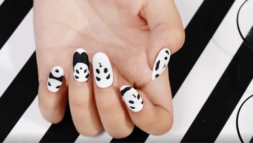 简单黑白 可爱萌熊猫