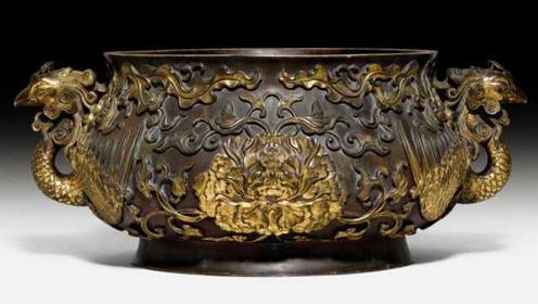 300年清朝御用鎏金香炉在瑞士拍卖:华裔匿名330万英镑拍下