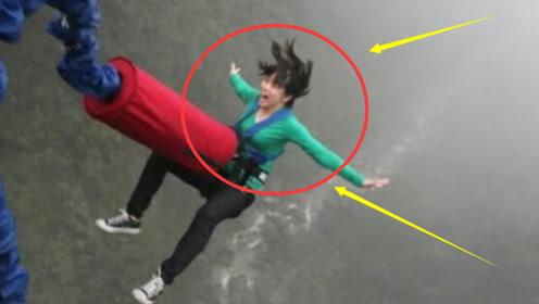 花季少女第一次蹦极,却犯下致命失误,监控拍下她生前最后10秒