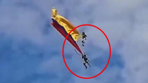 直升机悬吊士兵表演特技,绳索突然断裂2人当场坠亡