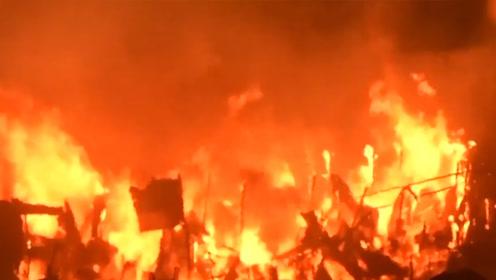 孟加拉国首都一贫民窟大火 焚毁1.5万住宅5万人无家可归
