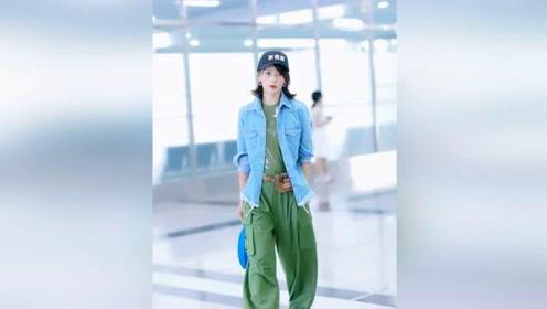 41岁刘涛穿得真潮!绿衣绿裤搭配牛仔外套个性十足,气场好强大