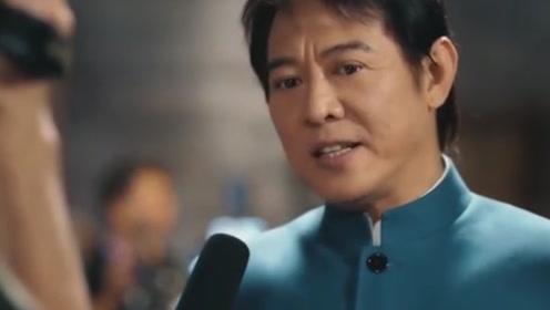 李连杰近态曝光,脸颊浮肿为拍广告染黑发,心酸!
