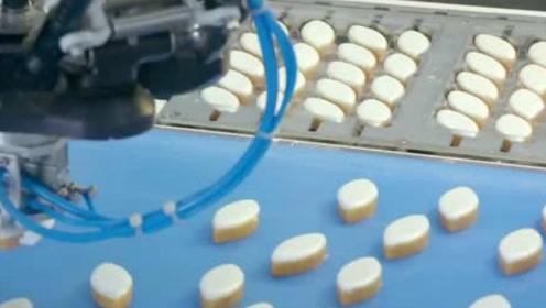实拍杏仁糕点加工厂,全机械化生产过程,简直是强迫症福利