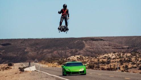 现实版绿魔飞行器?老外高速秒掉兰博基尼,但最后还是输给了它!