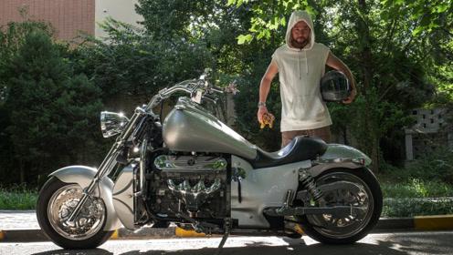 《宏義的摩托》BossHoss,一台V8发动机的摩托