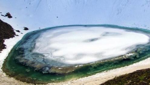 喜马拉雅山脉冰川融化,露出神秘湖泊,湖底的东西让人惊恐