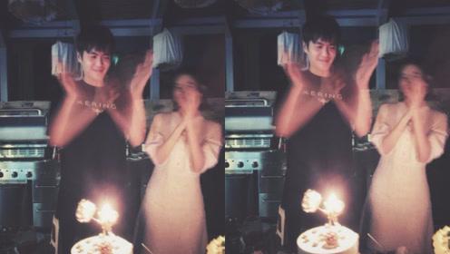 唐艺昕婚后首度为张若昀庆生 二人开心拍手画面幸福甜蜜