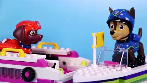 莱德队长带着汪汪队们去郊游了路马和阿奇留下来值班玩具故事