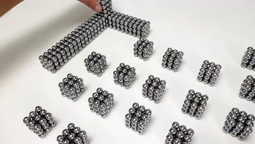 巴克球、磁铁球:立方体内放一个八面体过程,声音好听噼里啪啦