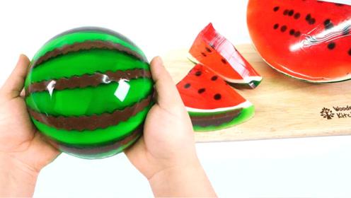 DIY西瓜果冻,集合5种口味,咬一口太过瘾了!