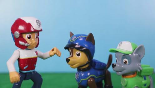 小镇上的风沙越来越大了 汪汪队决在小镇上种一些树 玩具故事