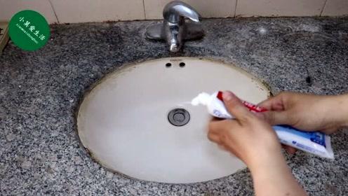 牙膏涂在洗手池里太厉害了,解决了很多人的烦恼,学会全家人受益