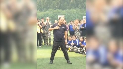 最灵活的胖子!河南一老师为军训活跃气氛 当场跳起了霹雳组合舞