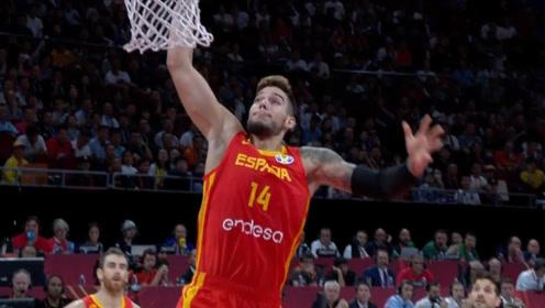 篮球世界杯9月15日五大扣篮 拉贝里单臂暴扣普瓦里耶吃饼暴扣