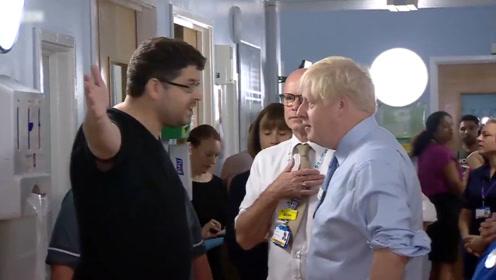 英首相参观医院被一位父亲当面指责:你只是为在媒体面前露个脸