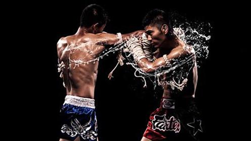 凶狠泰拳比赛,一记重肘直接将对手打晕在擂台,KO获胜!
