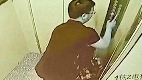 妙龄女子凌晨回家,电梯内遭到陌生男子猥亵3分钟,监控拍下全程