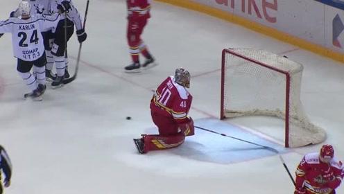 KHL冰球联赛:万科龙vs拖拉机,全场得分精彩高光时刻!
