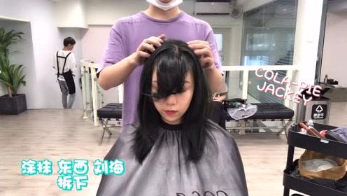 小姐姐给示范今年秋冬流行的这款中长发发型是有多好看,修颜无敌