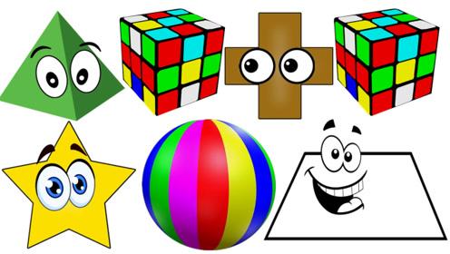 快乐英语记单词什么是立方体和球体你认识金字塔吗英语单词学习
