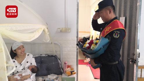 女儿在自己受阅当天降生 海军战士向产后晕倒的妻子敬上庄严军礼