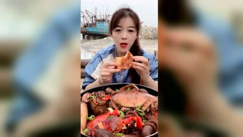 海鲜吃播:渔民的日常伙食