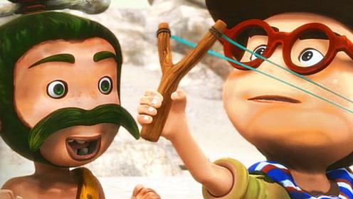 探险家教娘娘腔用弹弓,像打开新世界的大门,看的目瞪口呆!