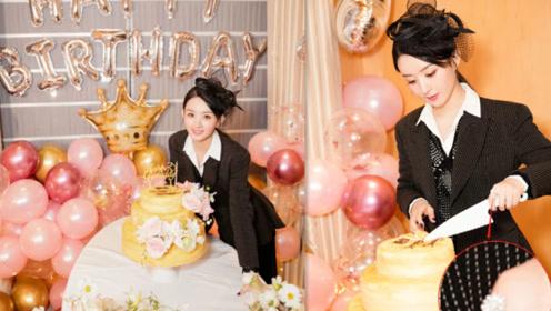赵丽颖当妈后首个生日却不见老公冯绍峰,而手上戴大钻戒超抢镜