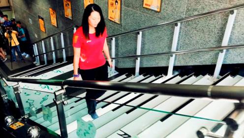 楼梯都会奏《我和我的祖国》!广州地铁的这段楼梯火了