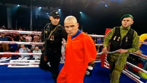 """比""""拳王泰森""""还厉害的拳击手!带着手铐上擂台,对手瑟瑟发抖!"""