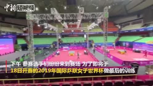 2019女乒世界杯开战在即国乒名将朱雨玲现身赛场备战