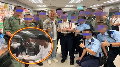 现场视频来了!艺人陈百祥现身香港警署,送奶茶慰劳警员