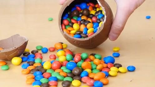 老外自制复活节彩蛋,巧克力外壳包裹糖果,孩子们的最爱