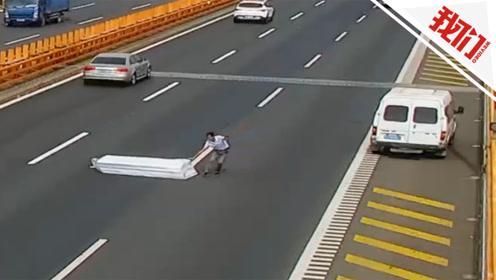 男子高速上突然停车 背后原因引网友怒赞