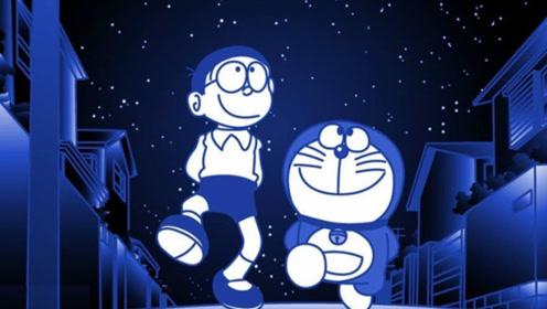 《哆啦A梦》,深夜的哆啦A梦变身狸猫形态,差点吃光整个城市的食物