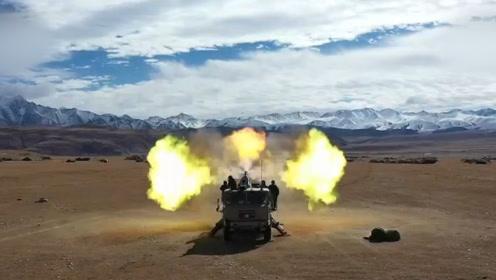 """中国陆军4500米高原""""火力全开""""!一个营的炮兵齐开火超壮观"""