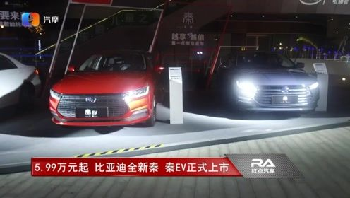 只要5.99万元起 比亚迪全新秦 秦EV正式上市