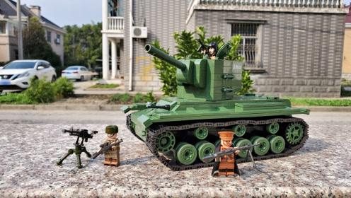 守护苏系荣光的152:全冠积木KV-2重型坦克搭建评测