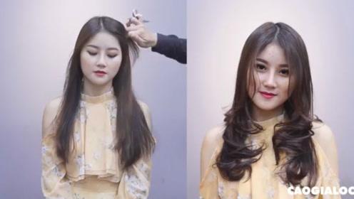 长发不剪短,剪个层次烫个发尾,也能秒变女神范