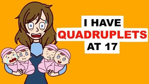 女子17岁生下四胞胎,却惨遭男友抛弃,连父母都不想要她?