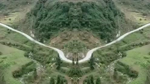 一个敢想一个敢修,山里拍到的场景,这才是真正的风水宝地!