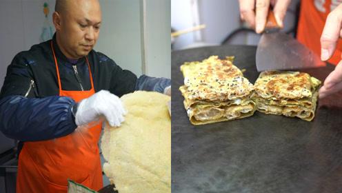 50岁大叔开店卖天津煎饼生意爆火,目标是将天津煎饼推向全国