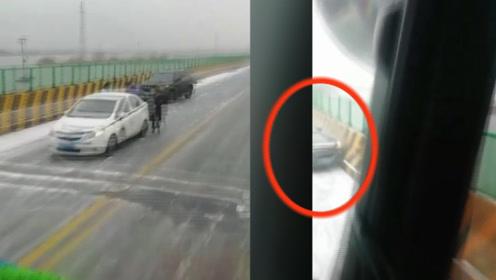 先知?吉林一司机边开车边拍车祸,下1秒拍下自己的车祸