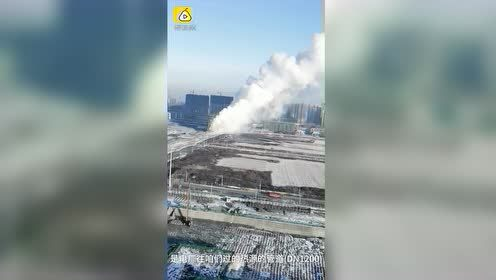 长春供热管道被挖断,水柱喷出数十米高,920万平供暖受影响