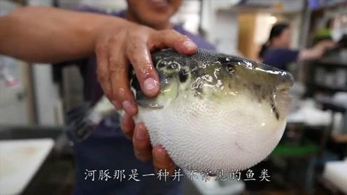 日本顶级料理:河豚生鱼片,一整只河豚被完美分割,你敢吃吗?