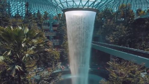 全世界最高的室内瀑布,耗资13亿打造,伸手一碰让人意外